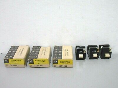 Lot of 3 New Allen-Bradley 1495-N1 Auxiliary Switches