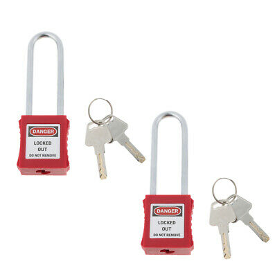 2xNew Safety Security Lockout Padlock, Red, Premium, Easy to Carry