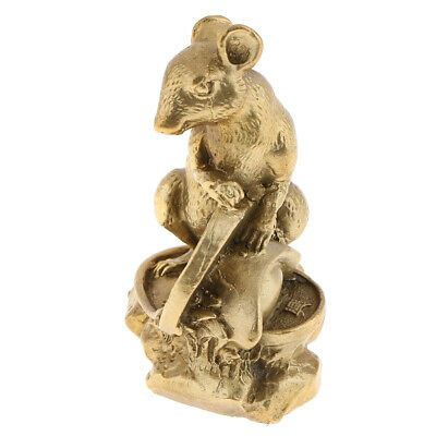 Chinese Feng Shui Statues Money Lucky Zodiac Animal Rat Figurines Collection