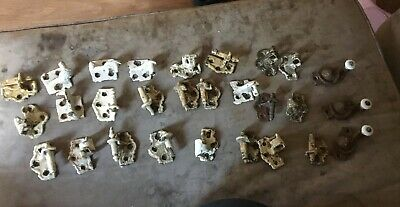 Vintage Antique Cast Iron Window Sash Locks keepers Hinges Blind House 28 Piece