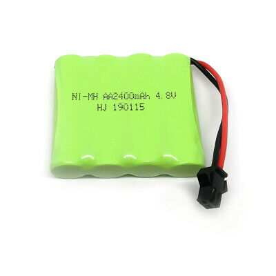 4.8V 2400mAh Ni-MH Rechargeable AA Battery Pack With SM 2P Plug For RC Toys