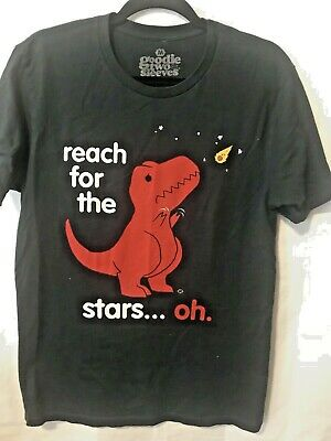 3f1be24a0 Goodie Two Sleeves Graphic Tee Mens Size M Reach for the Stars Dinosaur  Funny