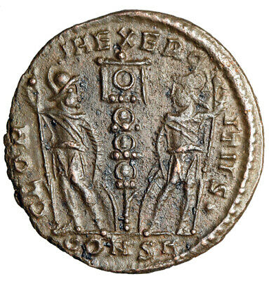 HIGH QUALITY Constantine I The Great War Type Roman Coin CERTIFIED AUTHENTIC EF