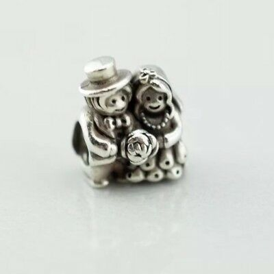 2d0ed4734 Authentic Pandora Sterling Silver S925 ALE MR & MRS Wedding Married Charm  791116