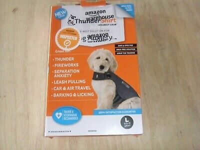 Brand New ThunderShirt Size Large Solid Gray for Dogs 41-64 lbs