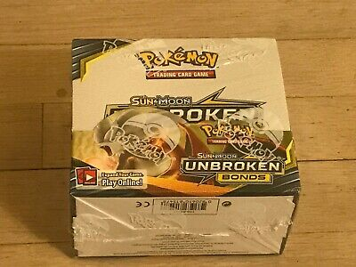Pokemon TCG Sun & Moon Unbroken Bonds Booster Box, Sealed! English Fast Shipping