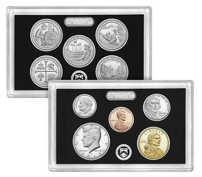2019 U.S. MINT 10 COIN SILVER PROOF SET w/SILVER ATB QUARTERS