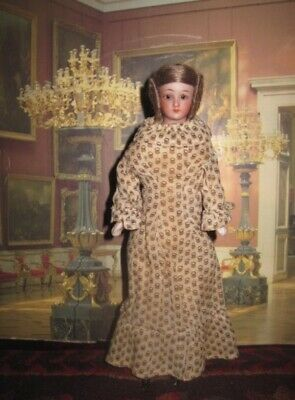 """Superb Large Size 8"""" Antique S & H  """"Little Women"""" Glass Eyed Bisque Head Doll!"""