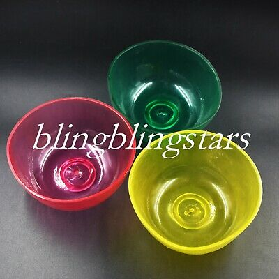 3 Pcs Dental Mix Flexible Rubber Bowls Impression Alginate Lab Nonstick