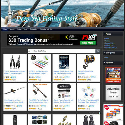 Deep Sea Fishing STORE - Work From Home Income Online Business Website For Sale!