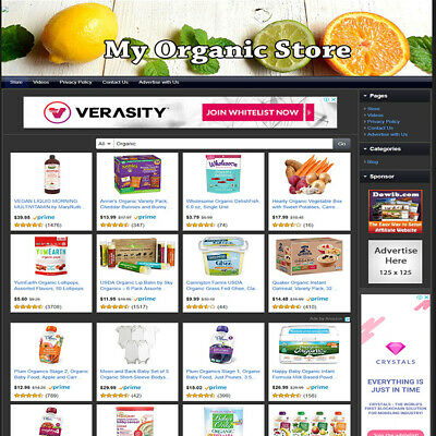 Heath Care Organic STORE Home Make Money Fast, Online Business Website For Sale!