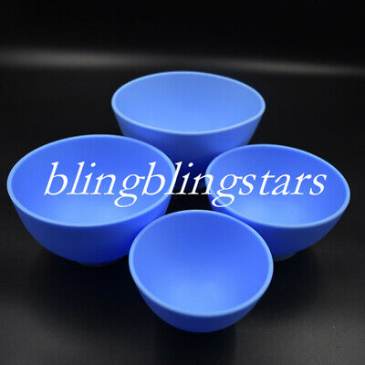 4 Pcs Dental Rubber Mixing Bowl Impression Material Flexible NonStick Alginate
