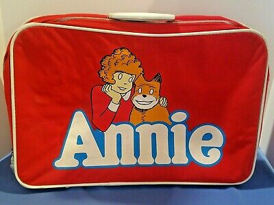 Little Orphan Annie Suitcase Luggage approx. 13.5 x 20 Vintage Annie Dog 1981