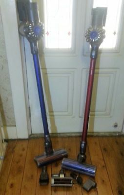 2x Dyson DC59 Handstick Vacuum Cleaner in excellent order Fluffy V6 Absolute