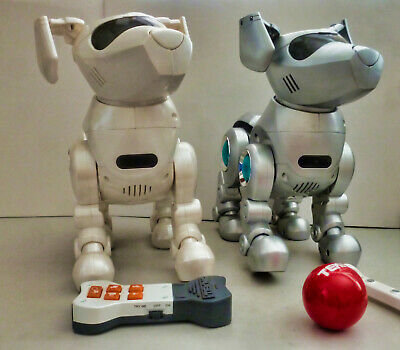 Tekno  Robot Dogs two Vintage TESTED WORKING
