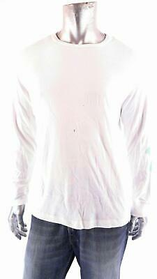 a15563a26c Basic Editions Mens size M Cotton Crew Neck T-Shirt Tee White Solid Long  Sleeve