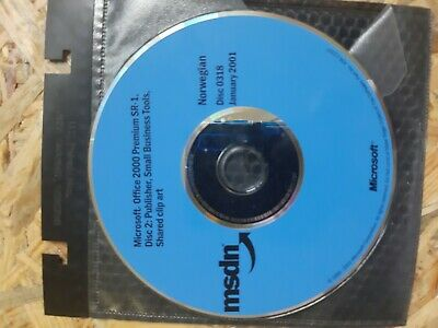Microsoft office 2000 sr-1 disc 2 : Publisher .small business tools shared clip