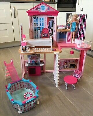 Barbie Doll Dream House 2 Story play set with pool and slide (2015)
