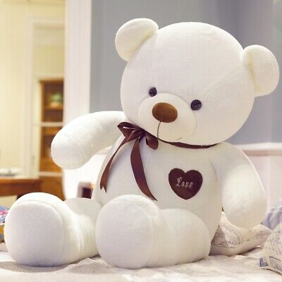 60CM Cute Big Plush Stuffed Teddy Bear Huge Soft Toy B-Day Xmas Wedding Gift US