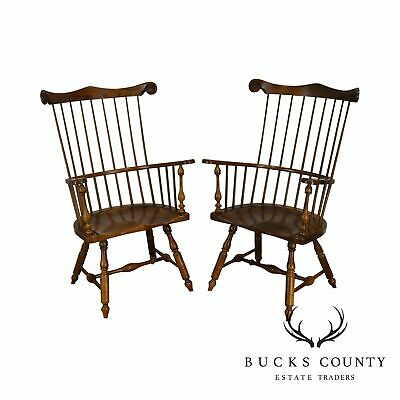 Frederick Duckloe Bicentennial Pair Chief Justice Windsor Armchairs