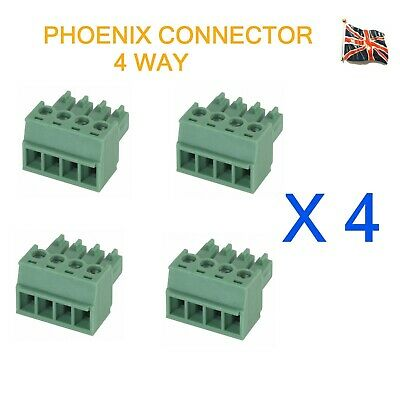 4 Lots of 4 Pin Phoenix Mini Connector Professional Audio 4 Way UK Stock