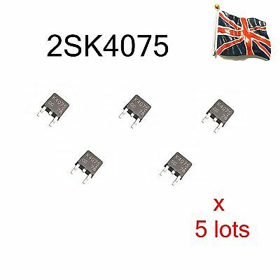 5 LOTS 2SK4075  K4075 MOSFET N-CH 40V 50A 3-Pin TO-252 UK STOCK