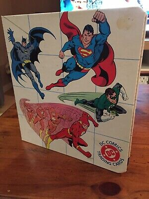 Rare DC Comics 1992 Collectable Card Set 77 Total + Folder
