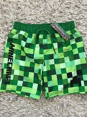 9d2bf85b3e4bc MINECRAFT BOYS SWIM Shorts Swimming Trunks Age 5-15 Yrs Gaming ...