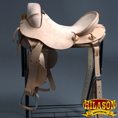 "C-Z-17 17"" Hilason Classic Series Hand-Made Rodeo Bronc American Leather Saddle"