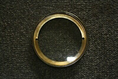 """Vintage French clock face 41/2"""" hinged bezel with glass for parts/spares/repairs"""
