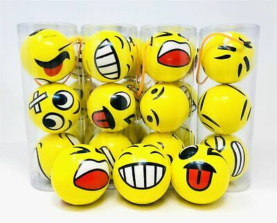 Set of 12 Emoji Face Shaped Anti Stress Anxiety Relief Tool Squeeze Balls Toy