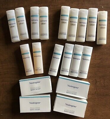 Neutrogena Soaps Shampoos Conditioners Lotions Bath Gels Travel Hotel Size 19 Pc