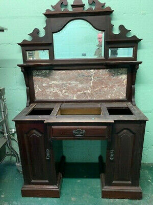 Victorian Marble Top mirror backed Washstand