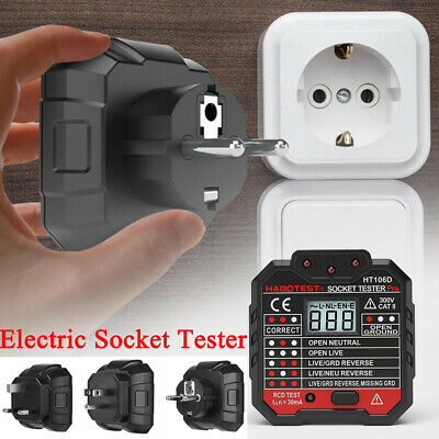 Socket Tester Malfunction Detector Digital Display Plug Mains Fault Checker