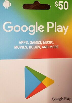 Ten google play gift cards each $50 value (available at 10% discounted price)