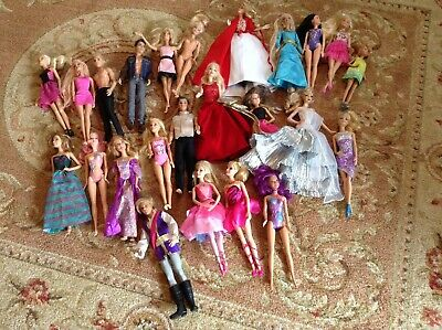 BARBIE Doll Lot Of 24 Some Movie Dolls