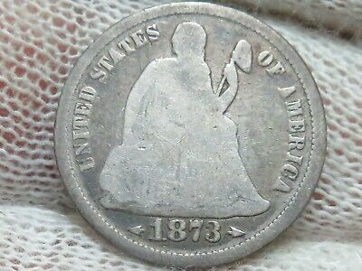 1873 Seated Liberty Silver Dime