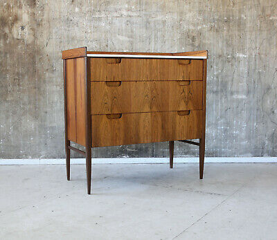60er PALISANDER KOMMODE MID-CENTURY ROSEWOOD CABINET VINTAGE CHEST OF DRAWERS