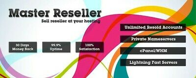 Master Reseller Web hosting Cpanel and WHM Unlimited 7.99 for 2years