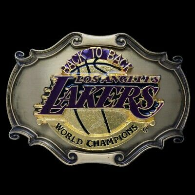 Vtg 1978 LA Lakers Los Angeles California Champions Basketball Nba Belt Buckle