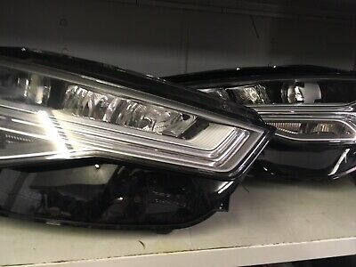 Audi A6 S6 Rs6 Matrix Led Facelift 2017 Headlights Pair Genuine Complete