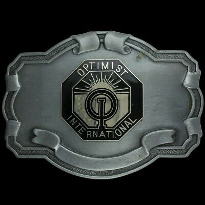 Vtg Optimist International Club Volunteer Organization Member 1980s Belt Buckle