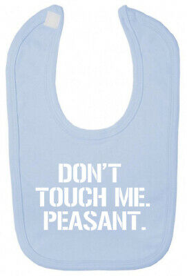 Don't Touch Me Bib Christening baby shower gifts for newborn baby boy girl