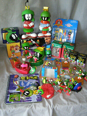 Collection of 30 Marvin the Martian Figurines, Ornaments, Rocket Ship, & More