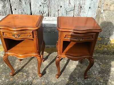Pair Vintage French  Louis style bedside tables