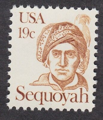 SEQUOYAH INDIAN GREAT AMERICANS 1980 STAMP UNUSED 19 Cent US POSTAGE