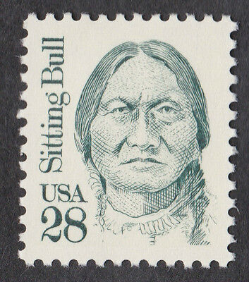 SITTING BULL INDIAN GREAT AMERICANS 1989 STAMP UNUSED 28 Cent USPS POSTAGE MNH