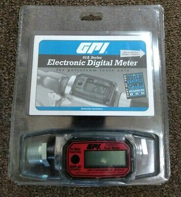 GPI 01A31GM Electronic Digital Fuel Meter /LCD Display For Petroleum Fuel Only