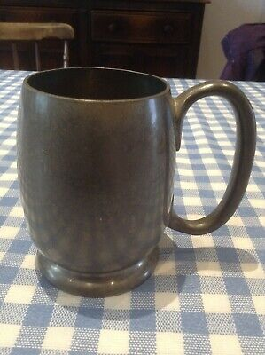 Bravingtons 'Tudric' pewter mug, very simple design but solid and weighty