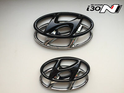 Hyundai i 30N Set Cover Emblem hochglanz–schwarz blacked out Badge gloss black